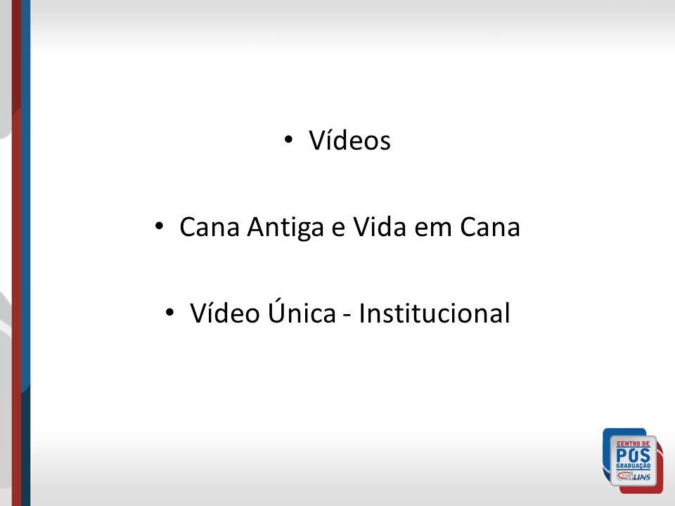 Vídeos Cana Antiga e Vida em Cana Vídeo Única - Institucional