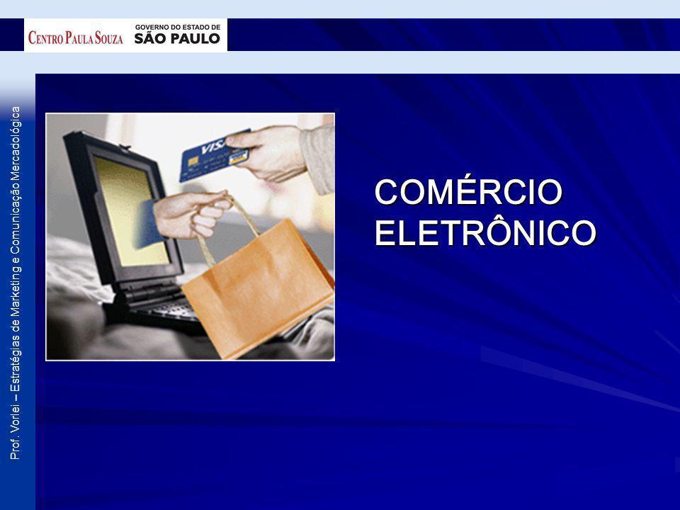 Prof. Vorlei – Estratégias de Marketing e Comunicação Mercadológica COMÉRCIO ELETRÔNICO