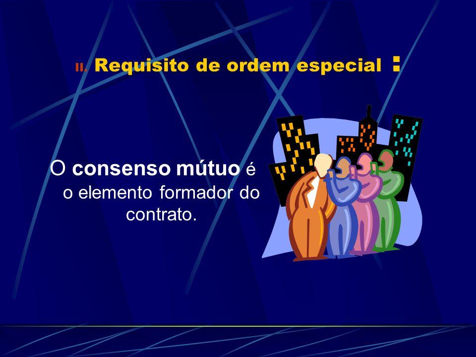 III.Requisitos de ordem geral para a validade dos contratos : a.