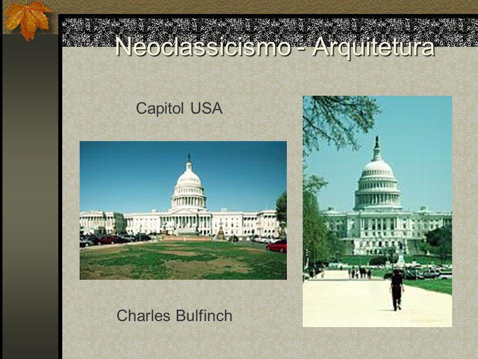 Neoclassicismo - Arquitetura Capitol USA Charles Bulfinch