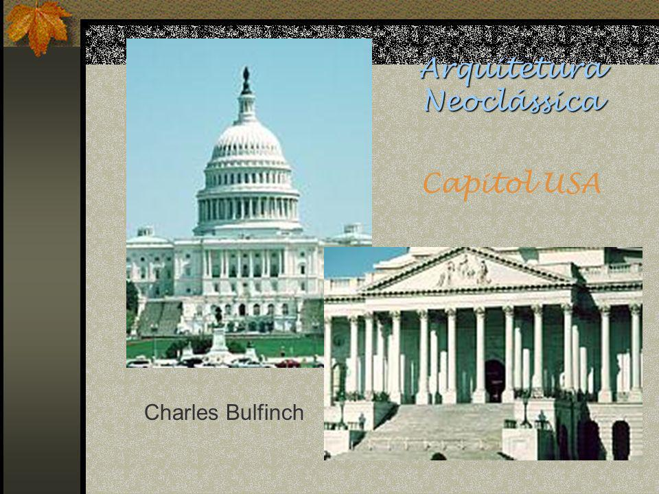 Arquitetura Neoclássica Capitol USA Charles Bulfinch