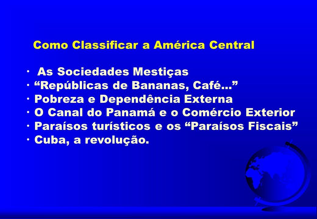 FATORES POLÍTICOS Democracias em fase de consolidação Muitos conflitos internos Instabilidade política Interferência externa Problemas de fronteiras O comunismo cubano Bloqueio americano