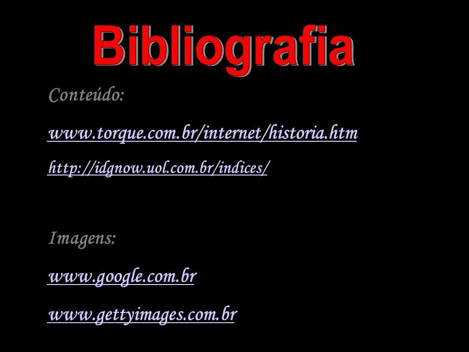 Conteúdo: www.torque.com.br/internet/historia.htm http://idgnow.uol.com.br/indices/ Imagens: www.google.com.br www.gettyimages.com.br