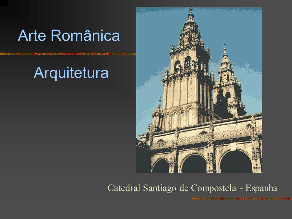 Arte Românica Arquitetura Catedral Santiago de Compostela - Espanha