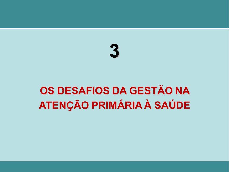 3 OS DESAFIOS DA GESTÃO NA ATENÇÃO PRIMÁRIA À SAÚDE