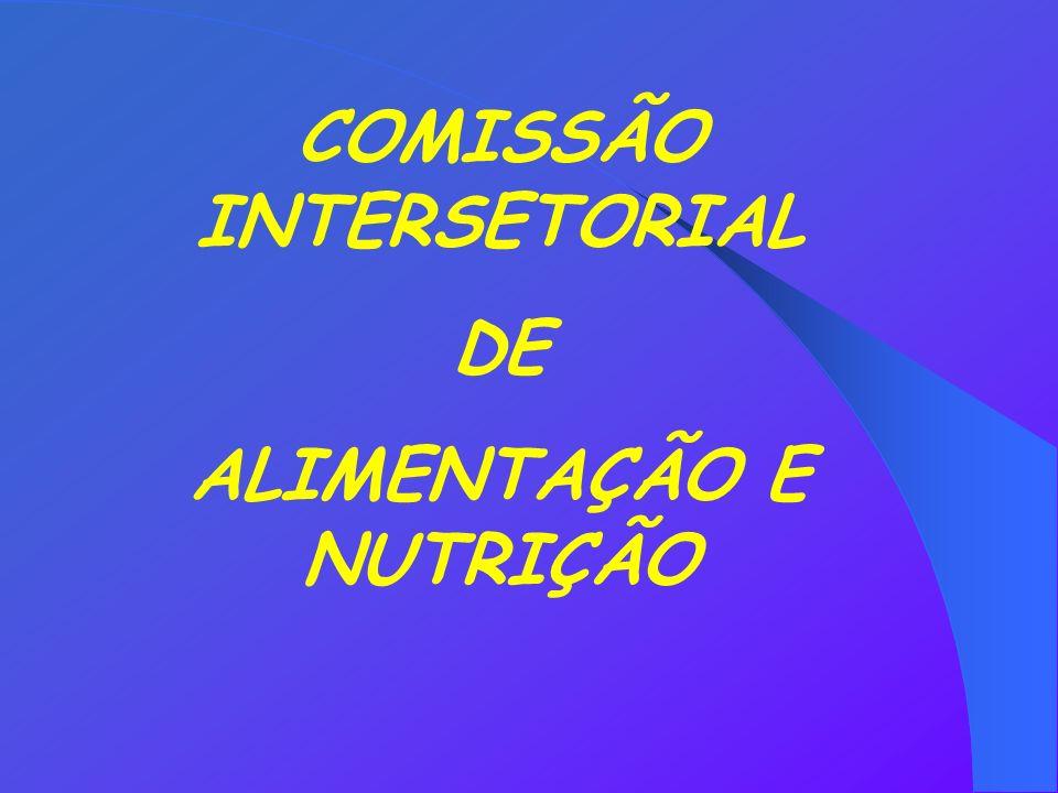 COMISSÃO INTERSETORIAL DE ALIMENTAÇÃO E NUTRIÇÃO