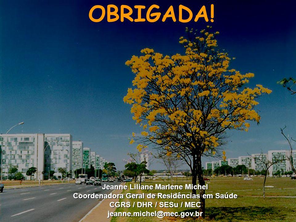 Ministério da Educação OBRIGADA.