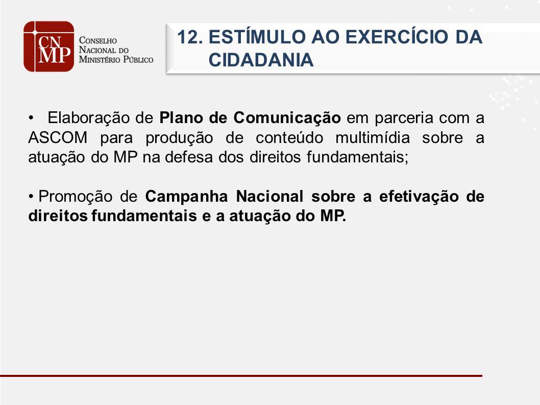 12. ESTÍMULO AO EXERCÍCIO DA CIDADANIA 12.