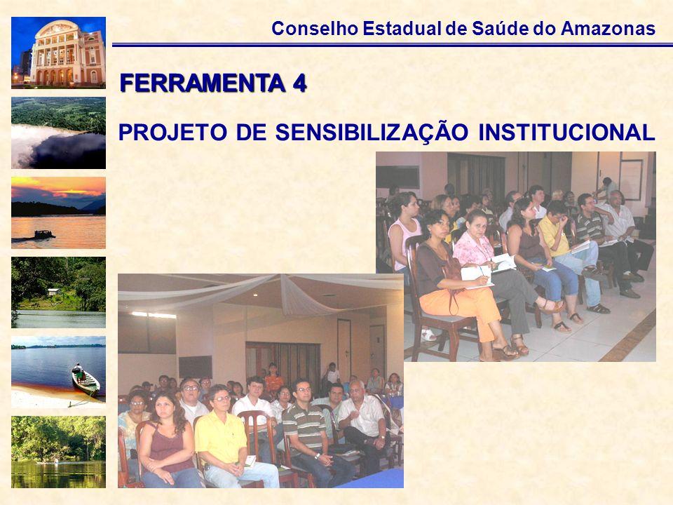 Conselho Estadual de Saúde do Amazonas PROJETO DE SENSIBILIZAÇÃO INSTITUCIONAL FERRAMENTA 4