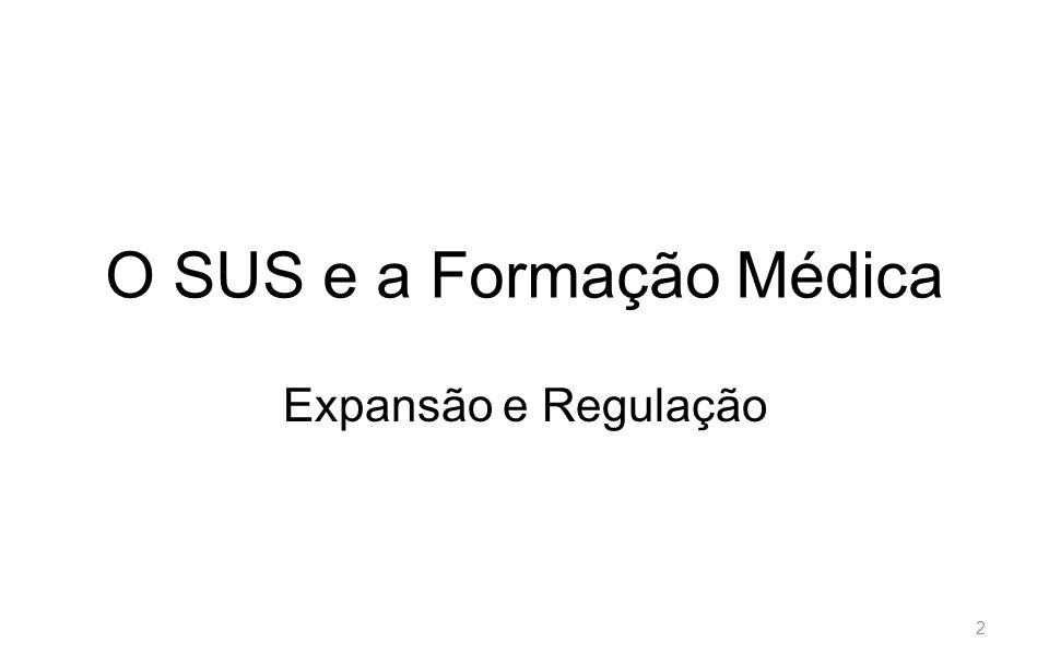 O SUS e a Formação Médica Expansão e Regulação 2
