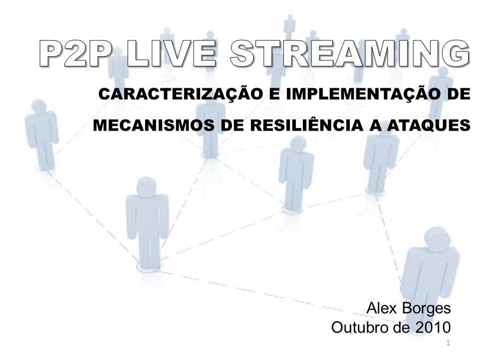 CARACTERIZAÇÃO E IMPLEMENTAÇÃO DE MECANISMOS DE RESILIÊNCIA A ATAQUES Alex Borges Outubro de 2010 1
