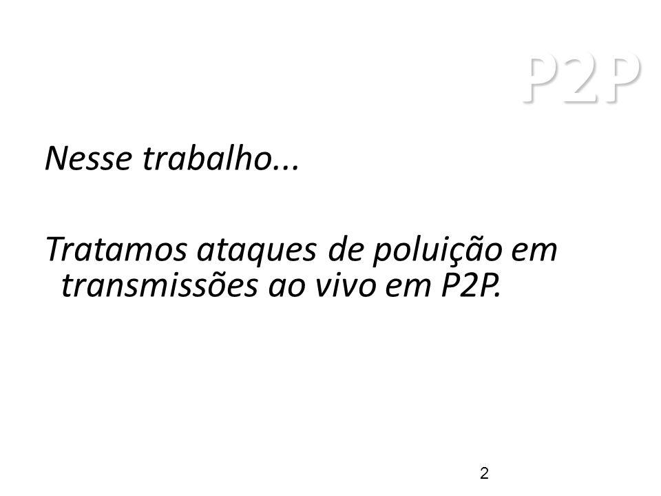 P2P ARQUITETURAS P2P Sistema P2P Trabalho! Poluição Defesa 13