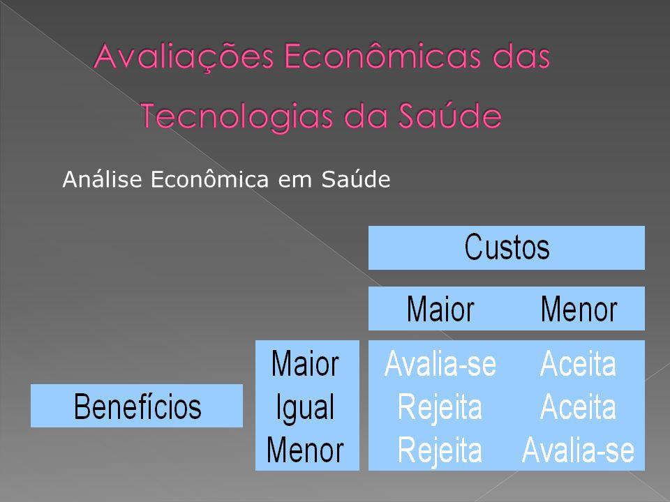 Análise Econômica em Saúde