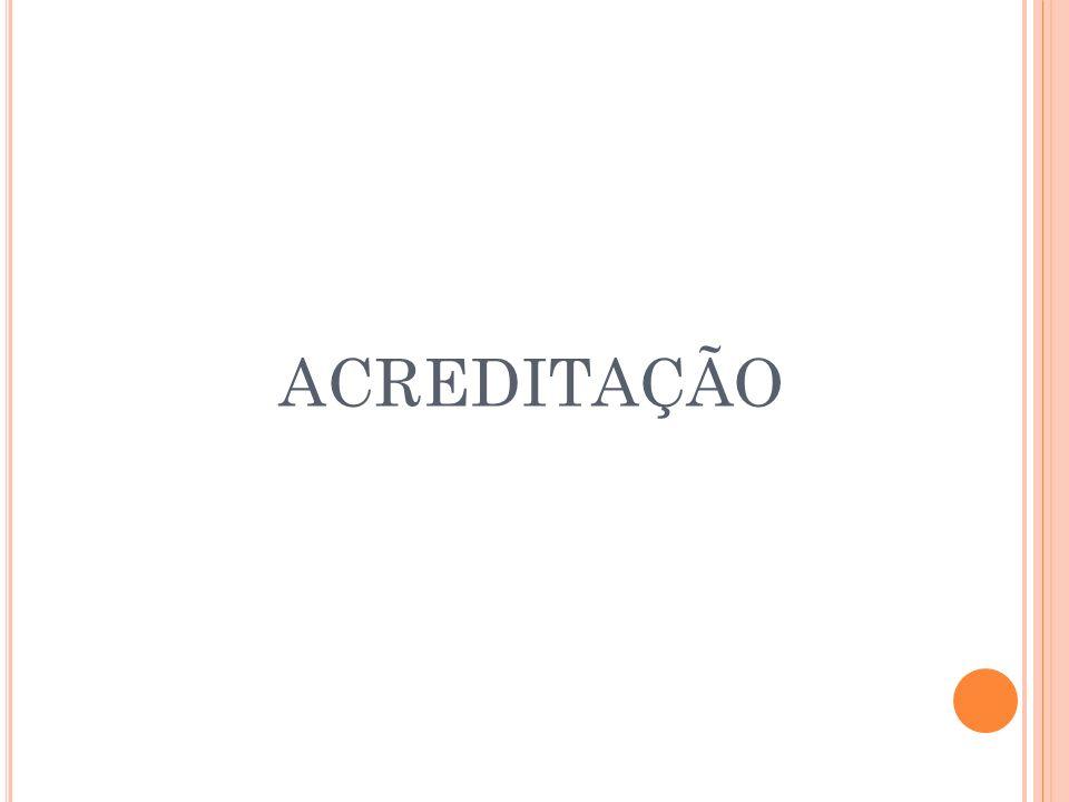 AVALIAÇÃO E CERTIFICAÇÃO Realizadas por Instituições Acreditadoras Credenciadas pela ONA; Tem como referência: Normas do Sistema Brasileiro de Acreditação e Manual Brasileiro de Acreditação; O interesse pela avaliação é da organizações.