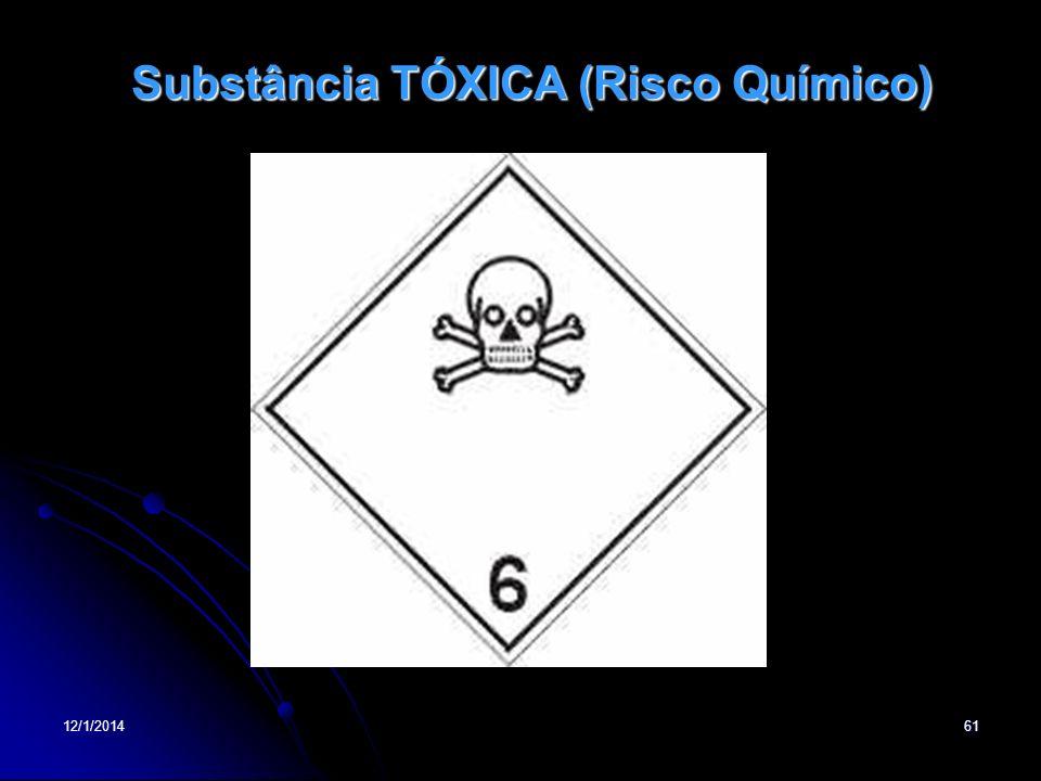 12/1/201461 Substância TÓXICA (Risco Químico)