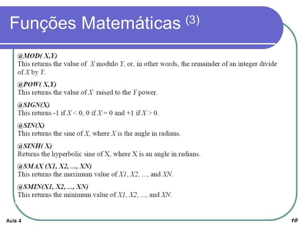 Aula 4 10 Funções Matemáticas (3)