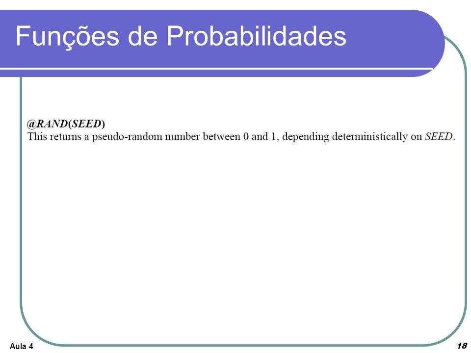 Aula 4 18 Funções de Probabilidades