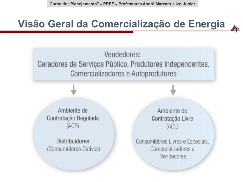 Curso de Planejamento – PPEE – Professores André Marcato e Ivo Junior Visão Geral da Comercialização de Energia