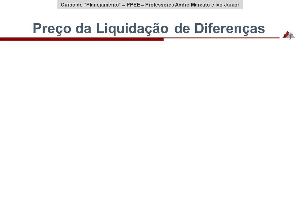 Curso de Planejamento – PPEE – Professores André Marcato e Ivo Junior Preço da Liquidação de Diferenças