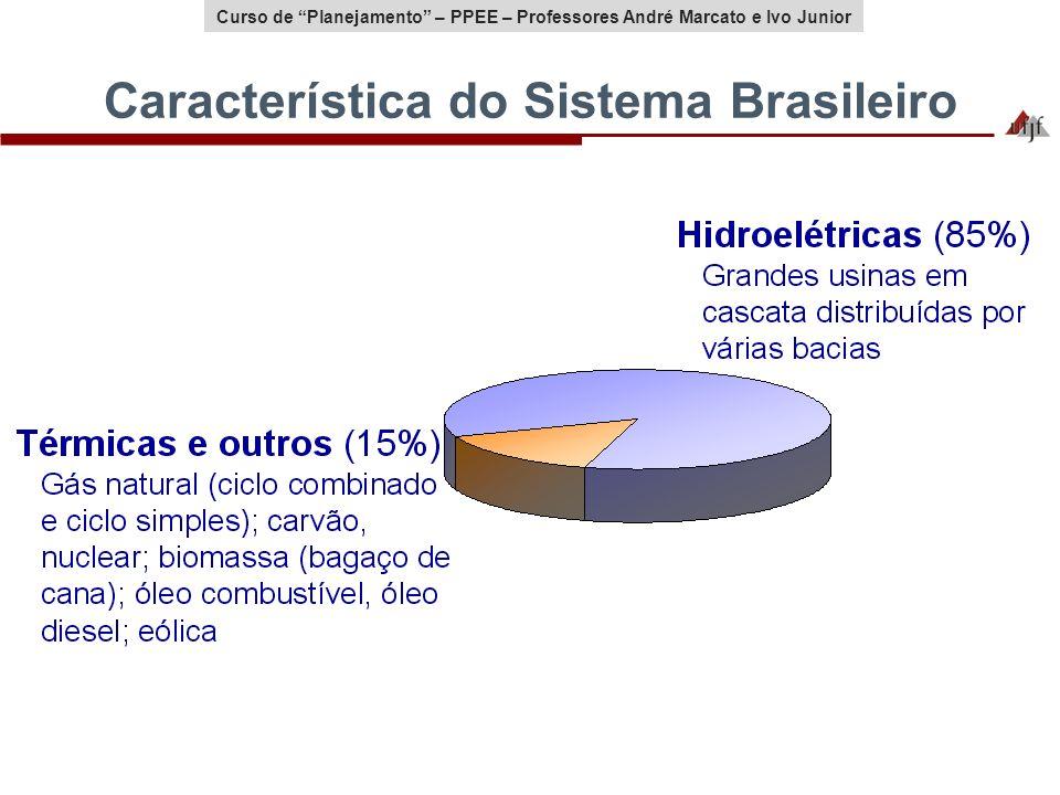Curso de Planejamento – PPEE – Professores André Marcato e Ivo Junior Característica do Sistema Brasileiro
