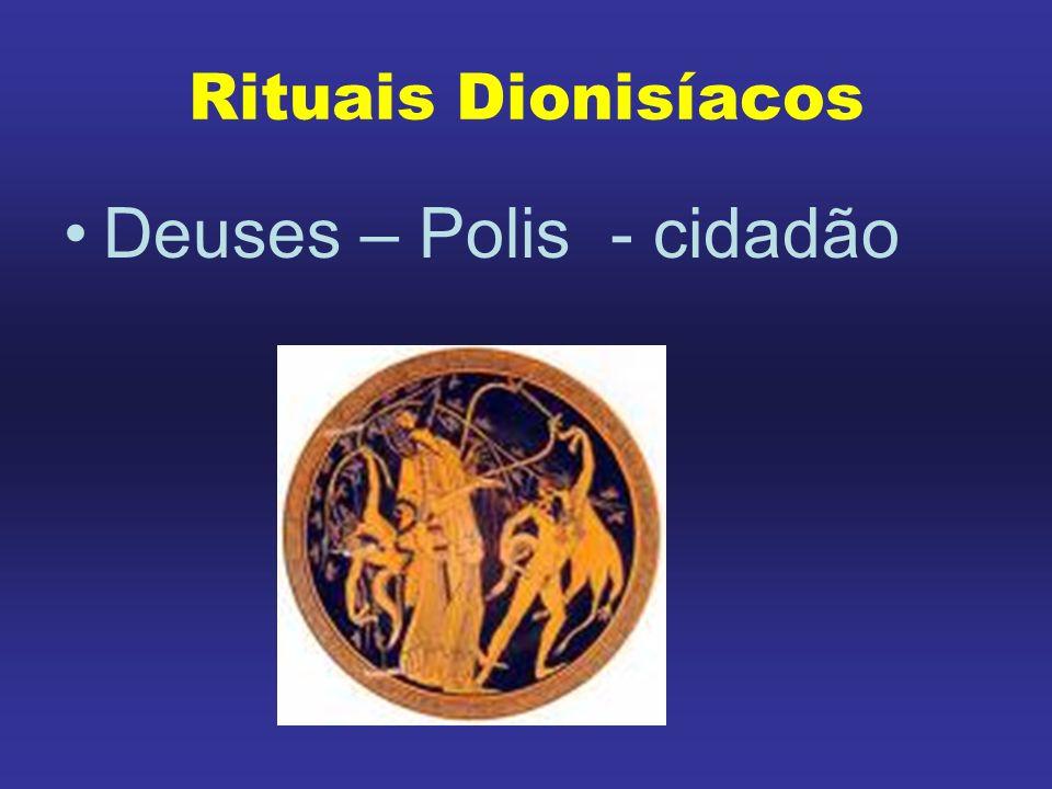 Rituais Dionisíacos Deuses – Polis - cidadão