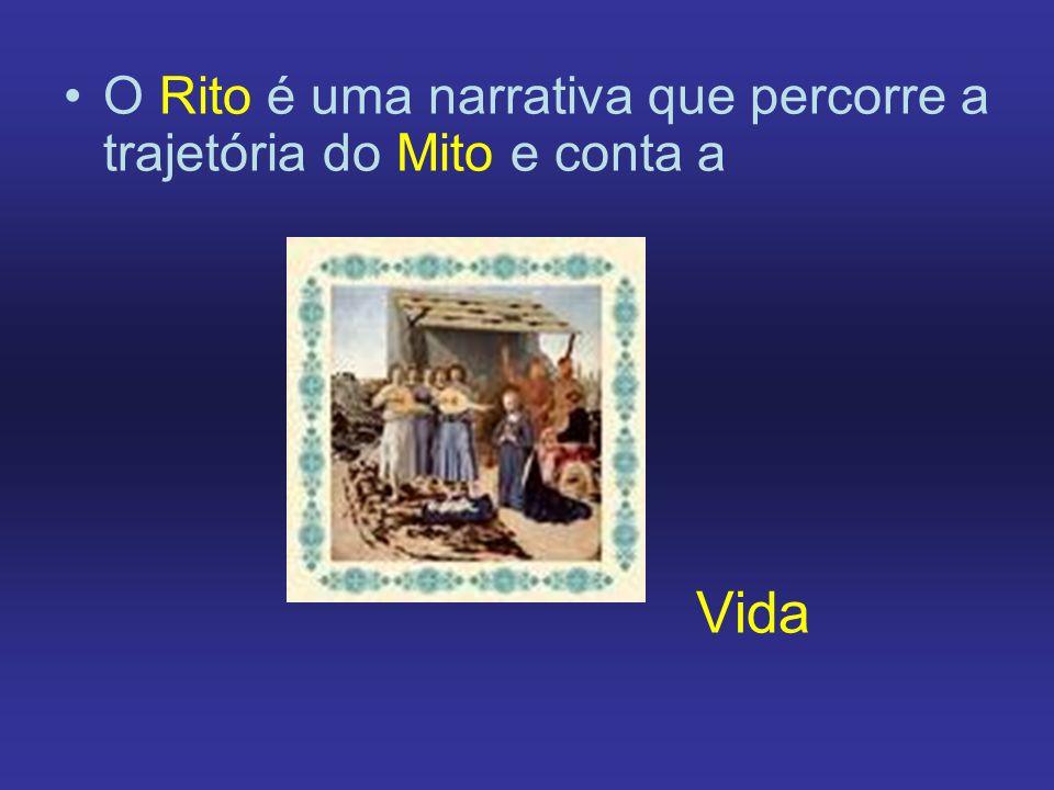 O Rito é uma narrativa que percorre a trajetória do Mito e conta a Vida