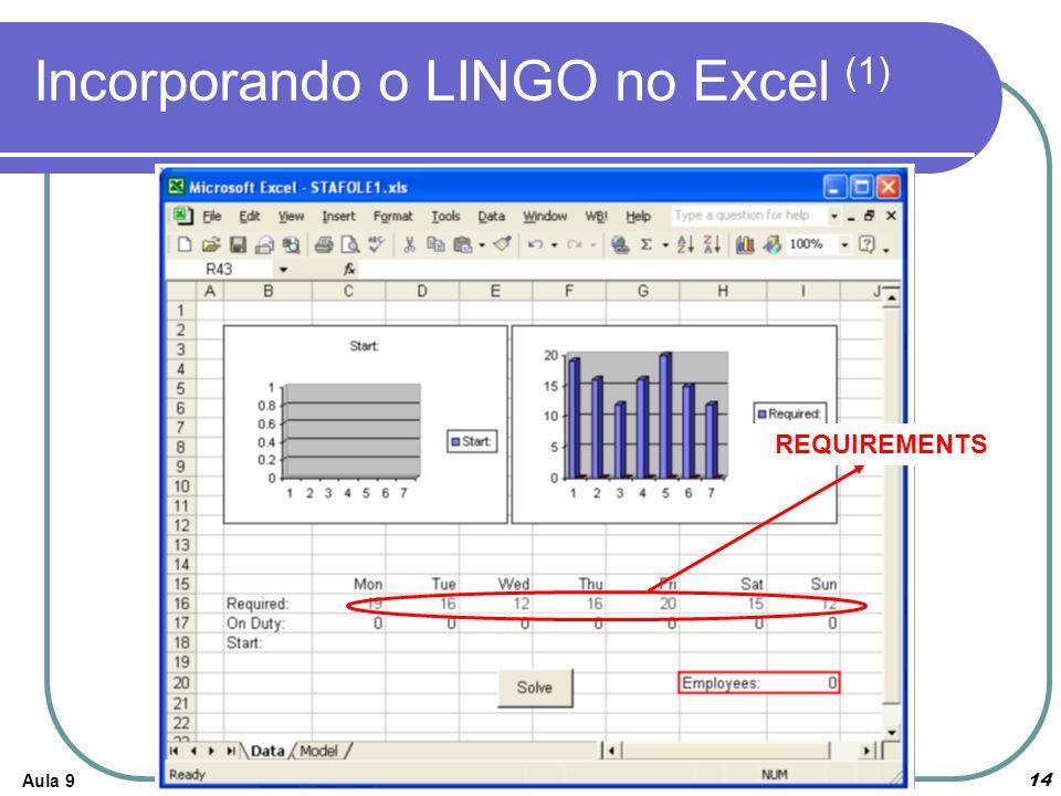 Aula 914 Incorporando o LINGO no Excel (1) REQUIREMENTS