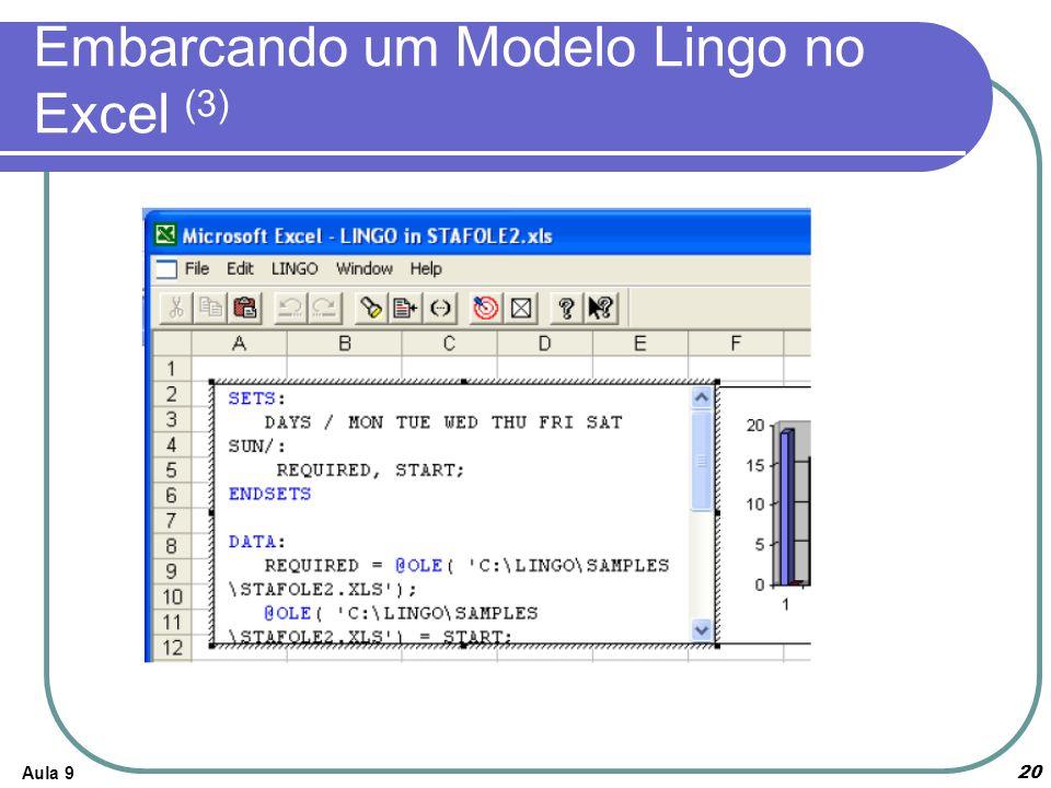 Aula 920 Embarcando um Modelo Lingo no Excel (3)