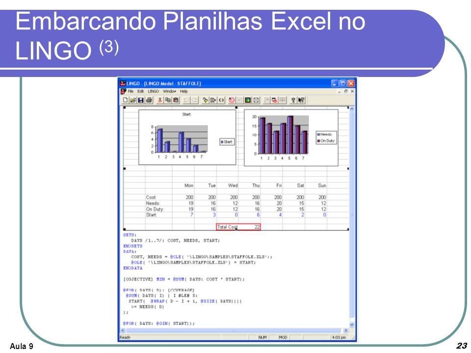 Aula 923 Embarcando Planilhas Excel no LINGO (3)