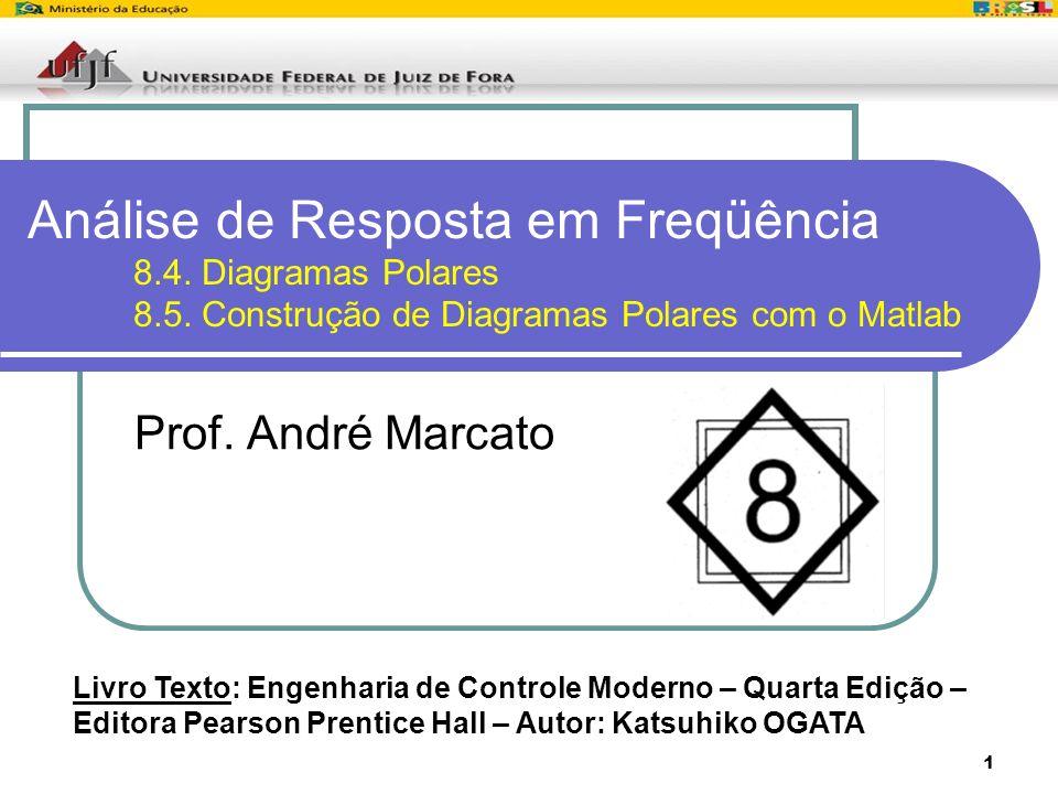 1 Análise de Resposta em Freqüência 8.4. Diagramas Polares 8.5. Construção de Diagramas Polares com o Matlab Prof. André Marcato Livro Texto: Engenhar