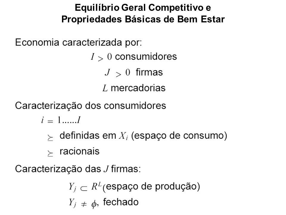 Equilíbrio Geral Competitivo e Propriedades Básicas de Bem Estar