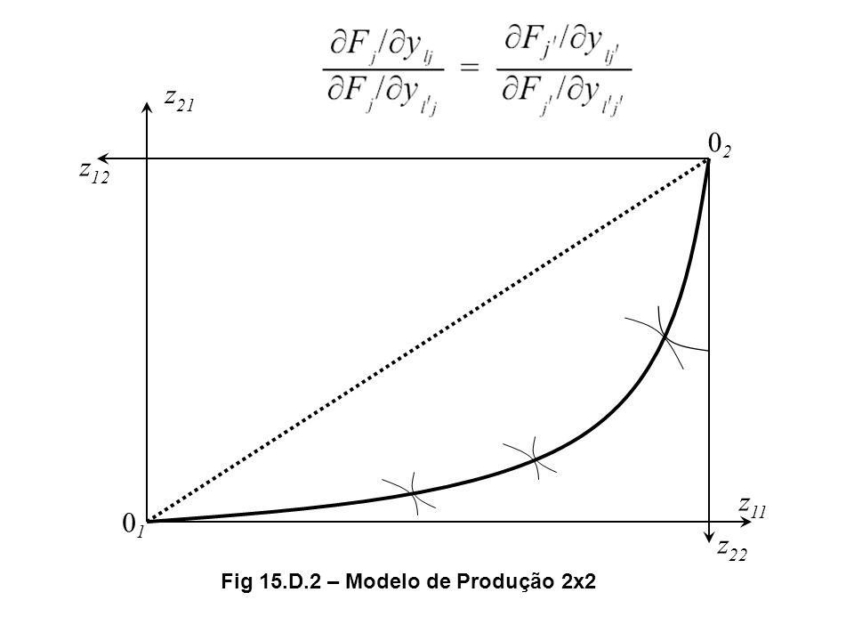 0202 0101 z 11 z 21 z 12 z 22 Fig 15.D.2 – Modelo de Produção 2x2