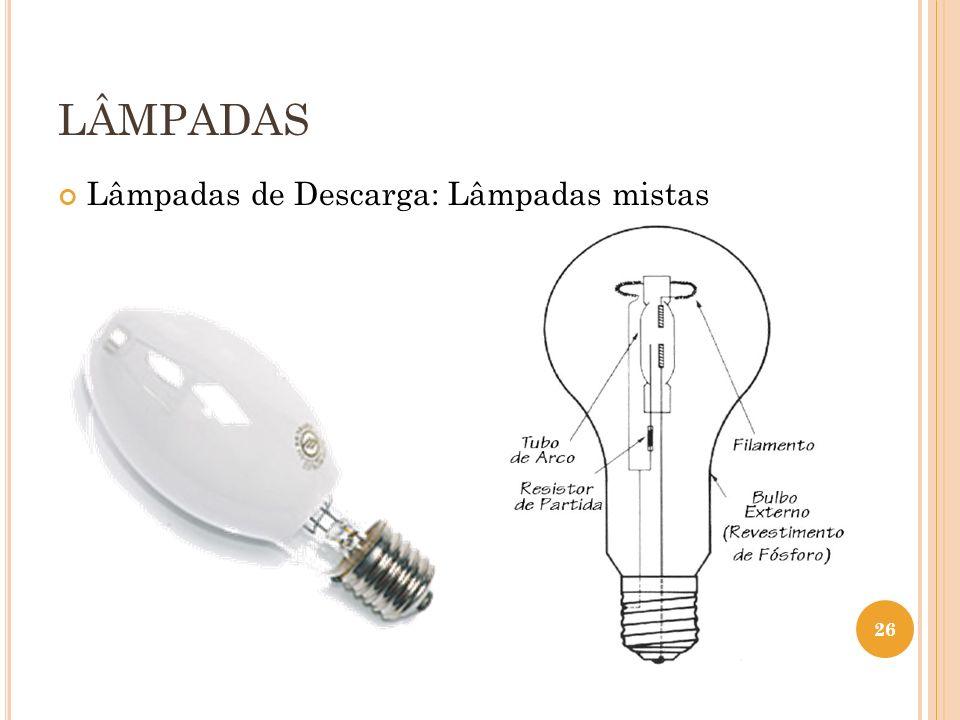 LÂMPADAS Lâmpadas de Descarga: Lâmpadas mistas 26