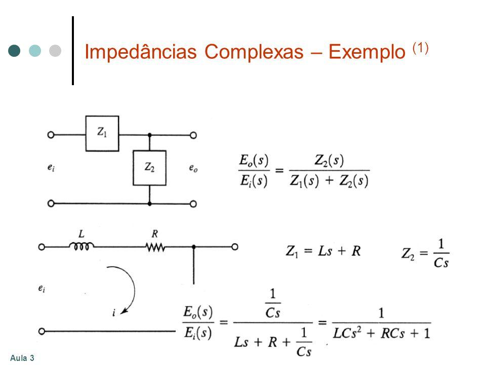 Aula 3 Impedâncias Complexas – Exemplo (1)