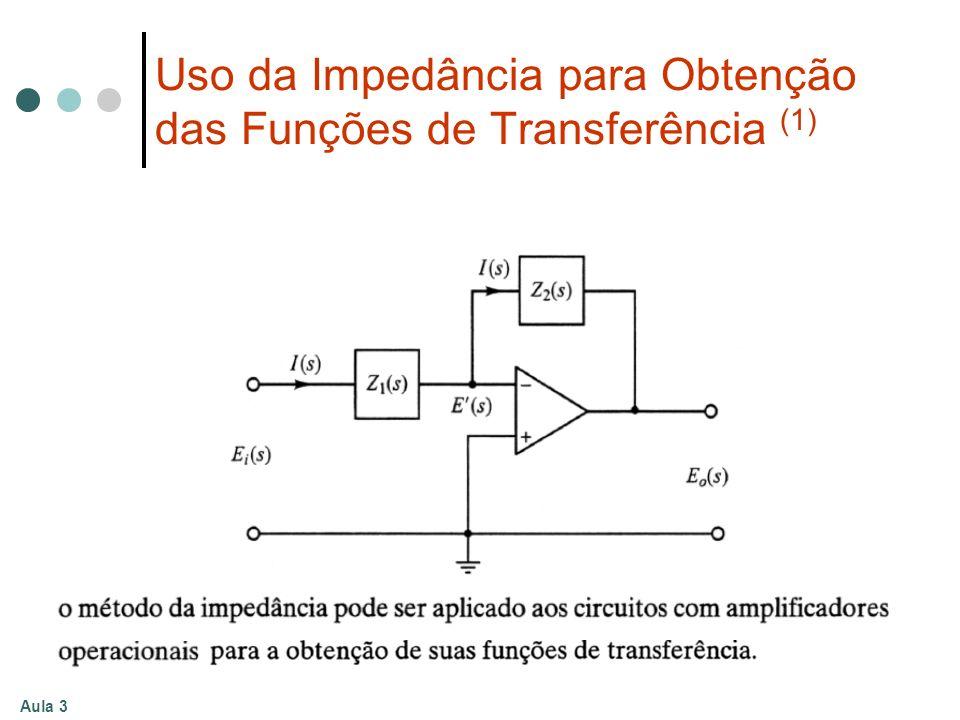 Aula 3 Uso da Impedância para Obtenção das Funções de Transferência (1)