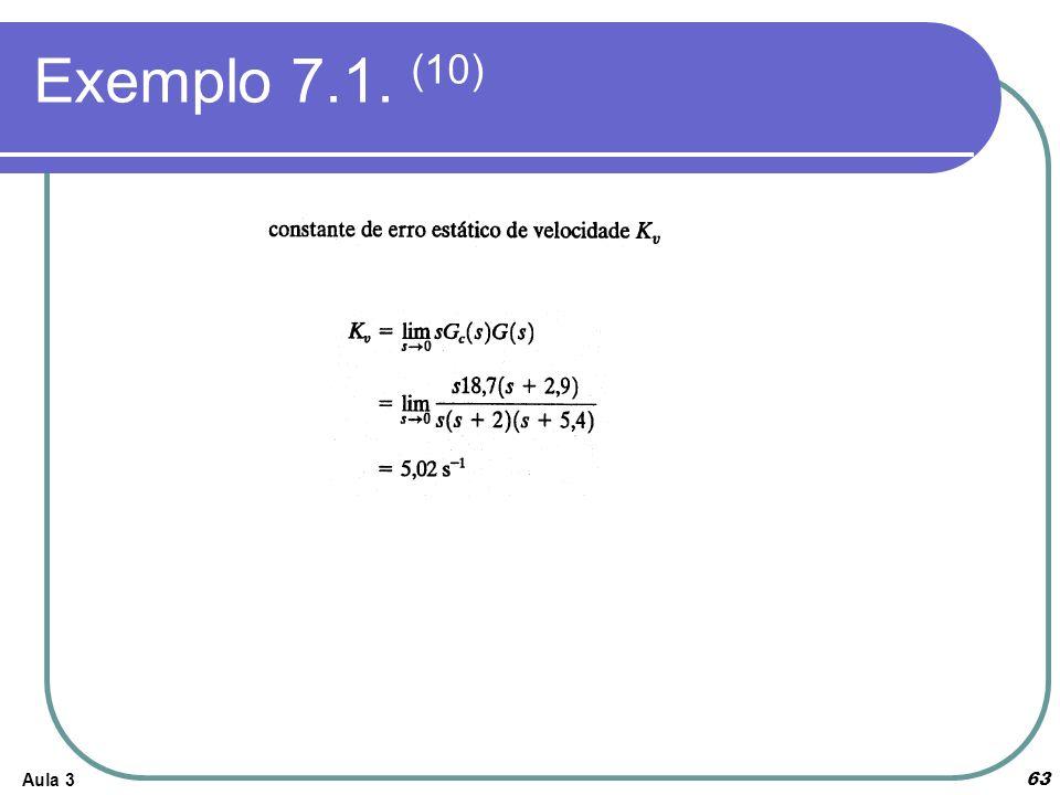 Aula 3 Exemplo 7.1. (10) 63