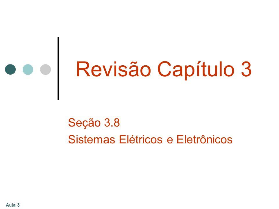 Aula 3 Revisão Capítulo 3 Seção 3.8 Sistemas Elétricos e Eletrônicos