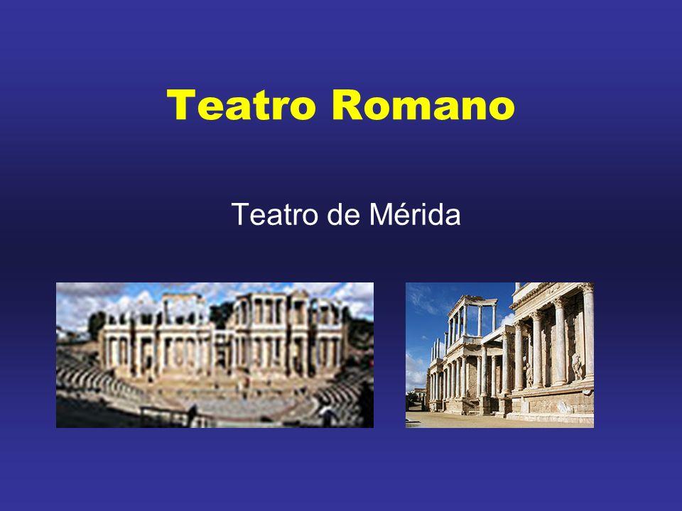 O teatro romano teve diferentes gêneros.