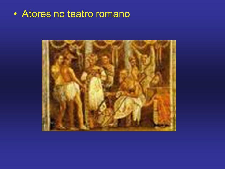 Atores no teatro romano