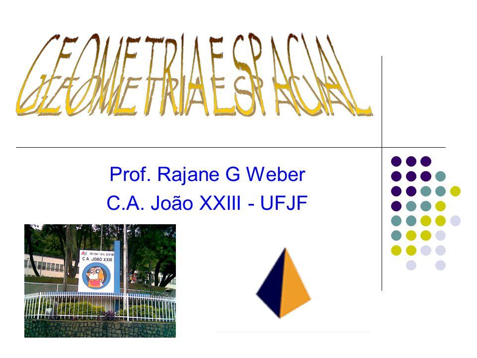 Introdução A Geometria espacial (euclidiana) funciona como uma ampliação da Geometria plana (euclidiana) e trata dos métodos apropriados para o estudo de objetos espaciais assim como a relação entre esses elementos.