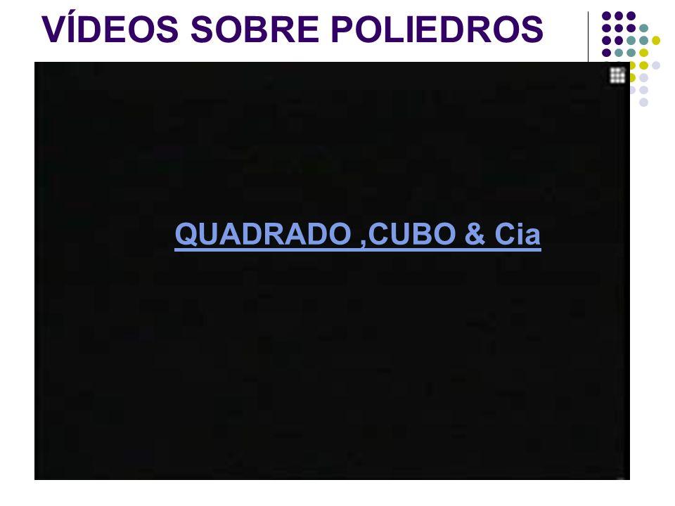 VÍDEOS SOBRE POLIEDROS QUADRADO,CUBO & Cia