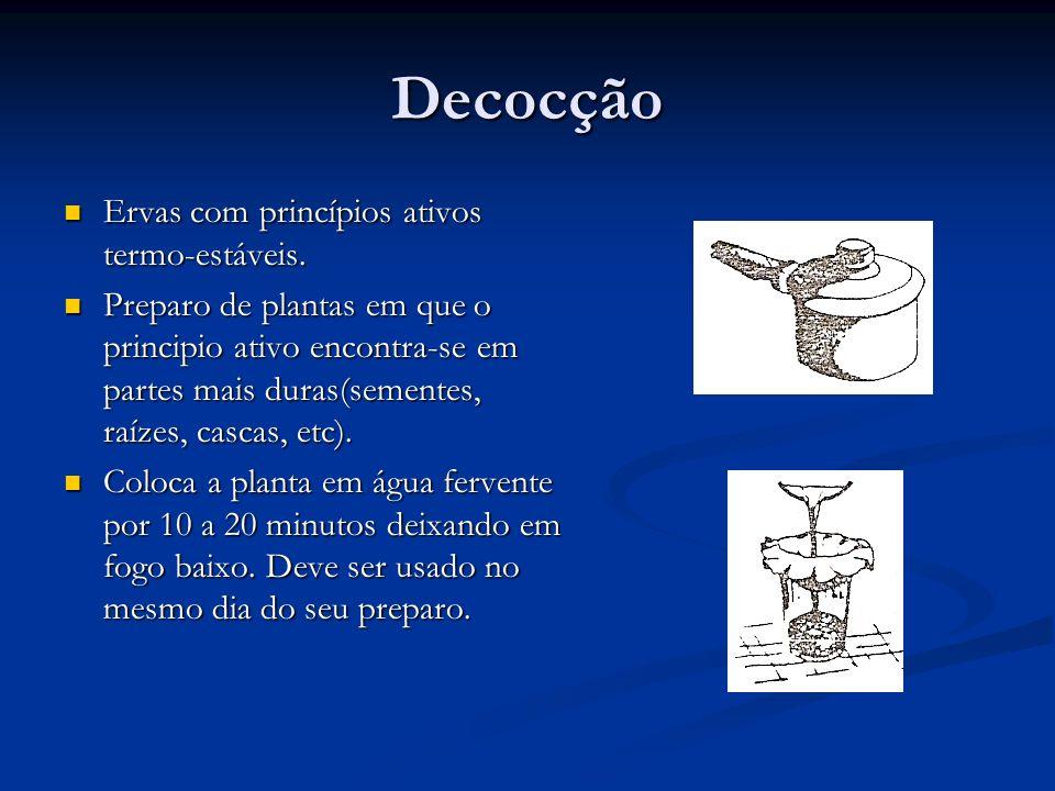 Inalação Plantas com princípios ativos voláteis.Plantas com princípios ativos voláteis.
