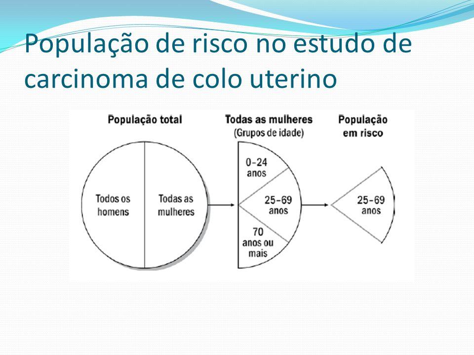 População de risco no estudo de carcinoma de colo uterino