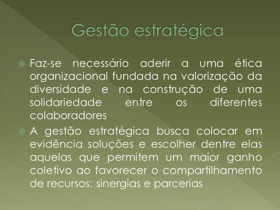 Faz-se necessário aderir a uma ética organizacional fundada na valorização da diversidade e na construção de uma solidariedade entre os diferentes col