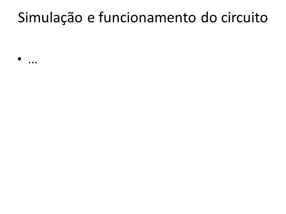 Simulação e funcionamento do circuito...