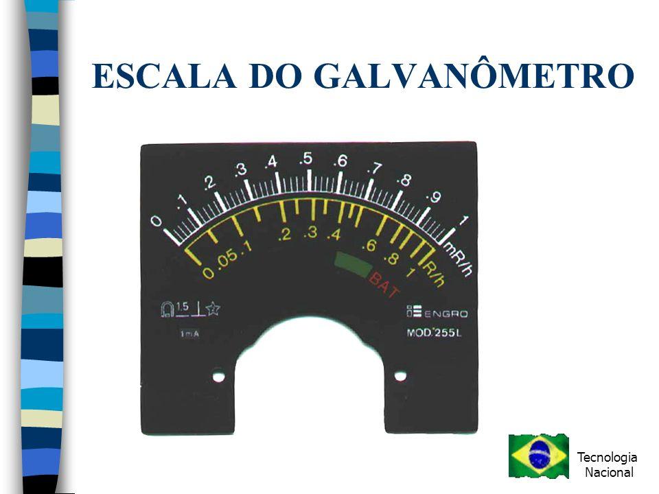 ESCALA DO GALVANÔMETRO Tecnologia Nacional