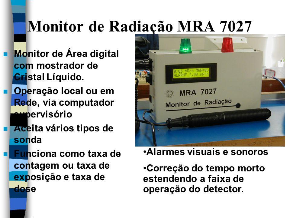Monitor de Radiação MRA 7027 n Monitor de Área digital com mostrador de Cristal Líquido.