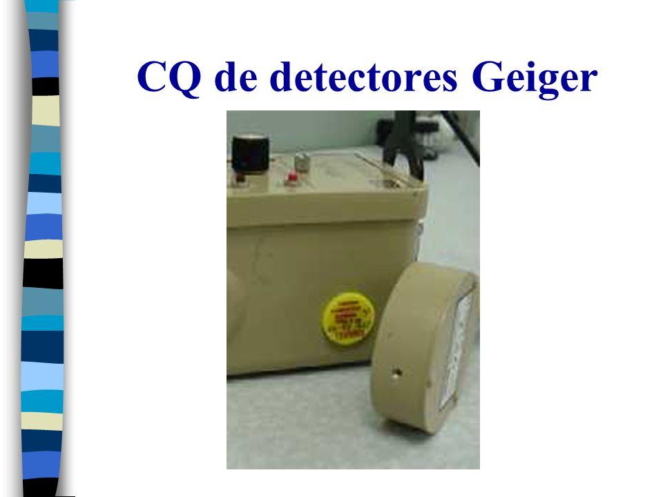 CQ de detectores Geiger
