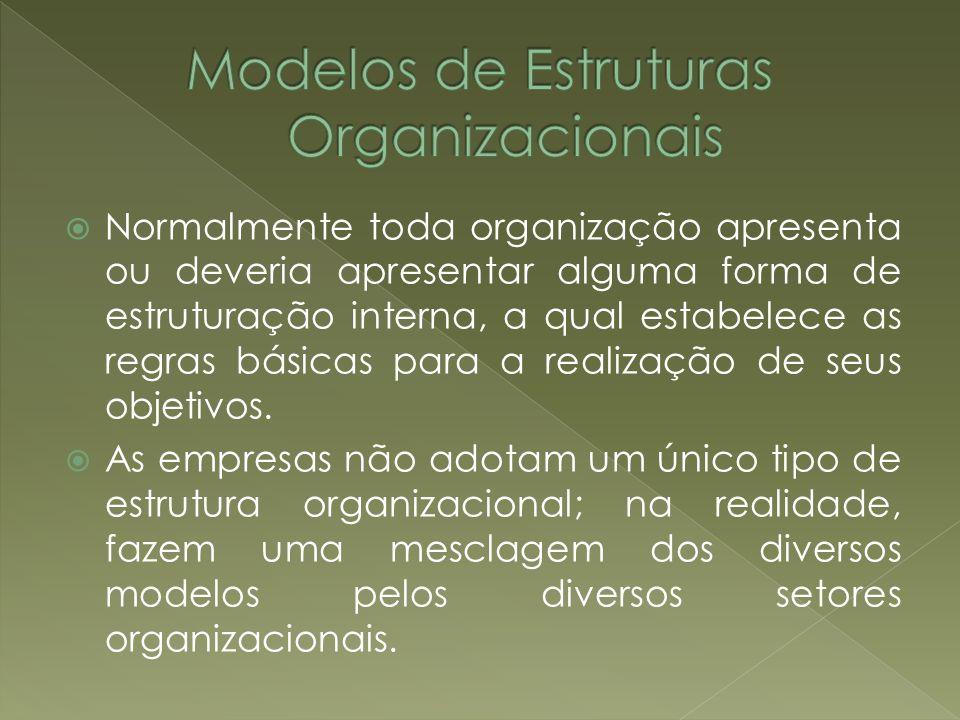 Normalmente toda organização apresenta ou deveria apresentar alguma forma de estruturação interna, a qual estabelece as regras básicas para a realizaç