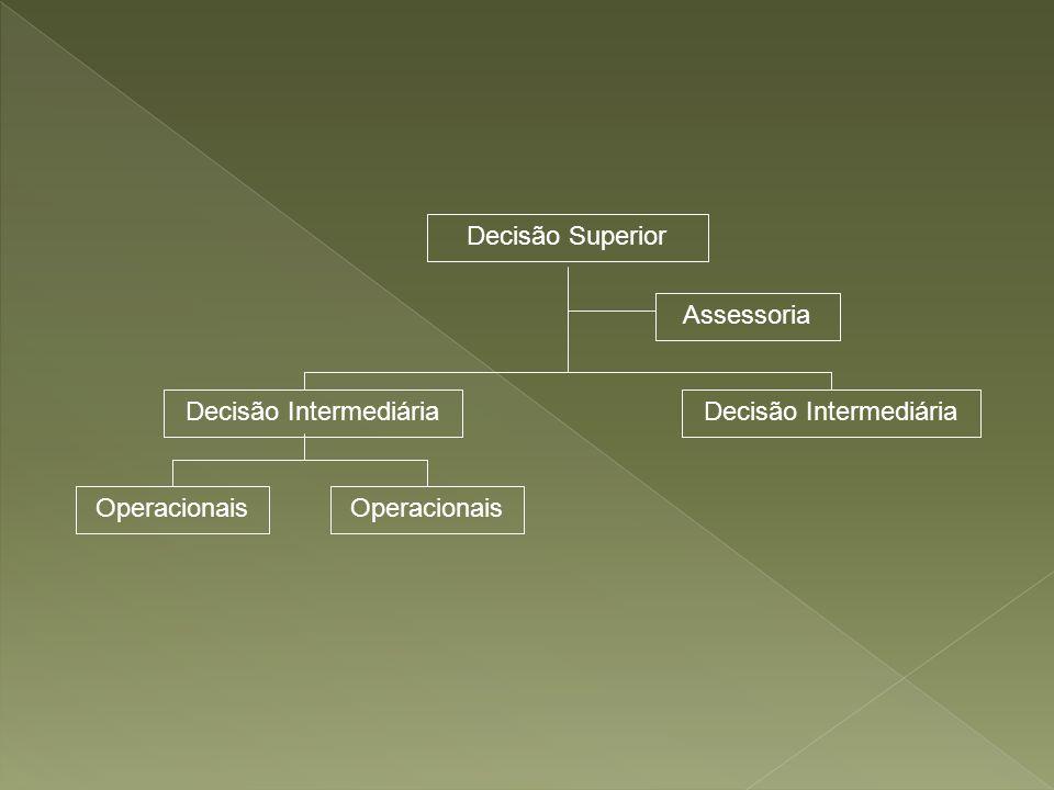 Decisão Superior Decisão Intermediária Assessoria Operacionais Decisão Intermediária